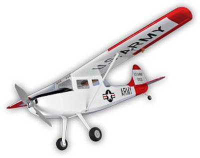HYPERION CESSNA BIRD DOG 10E WHITE 2009 ARF