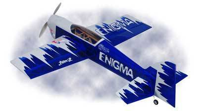 HYPERION ENIGMA 15E VECTOR THRUST 3D ARF W/ZS-2218-14 MOTOR BLUE