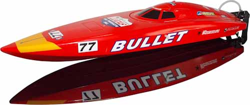 BULLET RC BOAT RTR 2.4G W/LIPO BATTERY & CHARGER