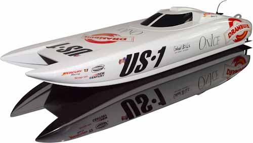 US-1 RC BOAT RTR 2.4G W/LIPO BATTERY & CHARGER