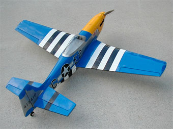 "HYPERION P-51 MUSTANG GLASS SCALE ""25"" ARF BLUE ""LOU IV"""
