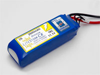 HYPERION LCX 2500 MAH 4S 18C LITHIUM POLYMER BATTERY PACK (14.8V)