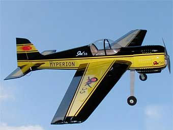 "HYPERION YAK 55 SP ""10"" ARF - BLACK WITH POWER SET"