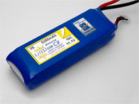 HYPERION LCX 5350 MAH 2S 16C LITHIUM POLYMER BATTERY PACK (7.4V)