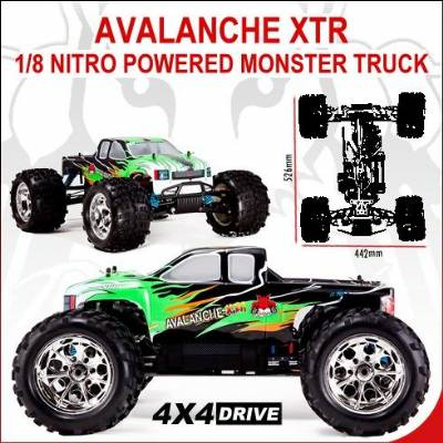 Avalanche XTR 1/8 scale Nitro RTR Monster Truck
