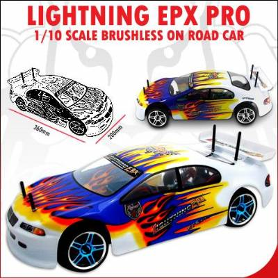 Lightning EPX PRO 1/10 Scale Brushless On Road Toy Cars