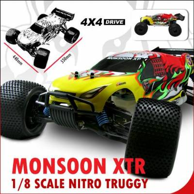 Monsoon XTR 1/8 Scale Nitro Truggy