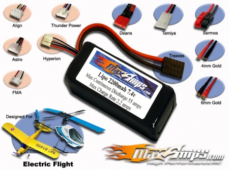 Lipo 2200 2S 7.4V Flight Pack